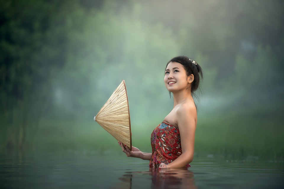 Young, Asia, Cambodia, Face, Woman, Girl, Happy