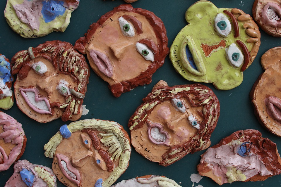 Pottery, Faces, Scowles, Smiling, Eyes, Mouth