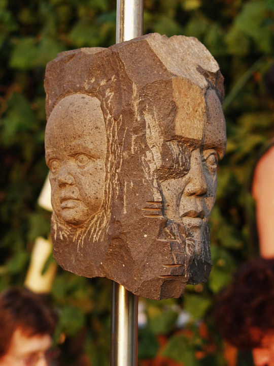Art, Stone Heads, Faces