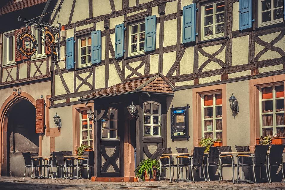Architecture, Fachwerkhaus, Restaurant, Town