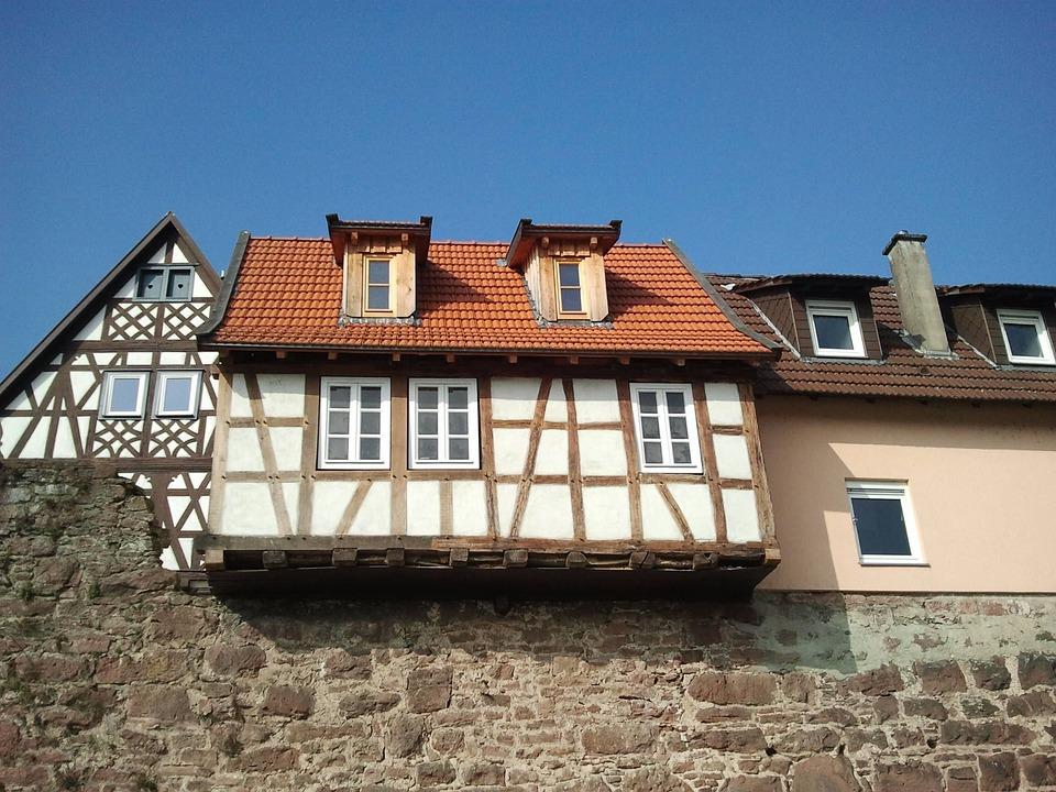 Germany, Fachwerkhaus, Hirschhorn, Architecture
