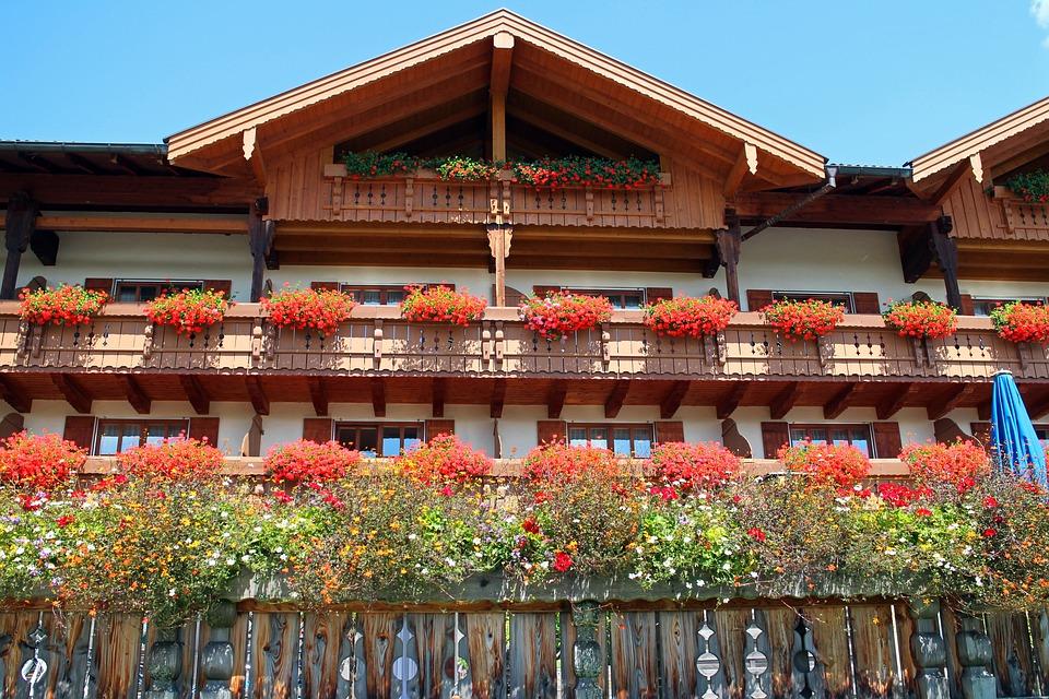 Fachwerkhaus, Allgäu, Balcony Plants, Home, Front