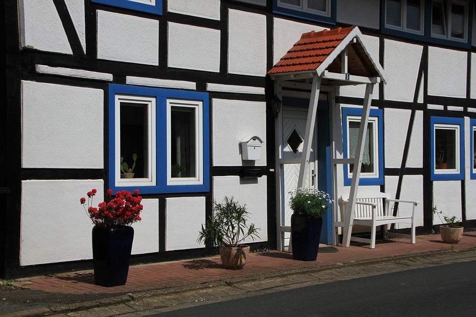 Fachwerkhaus, Old Farmhouse, Truss, Spring