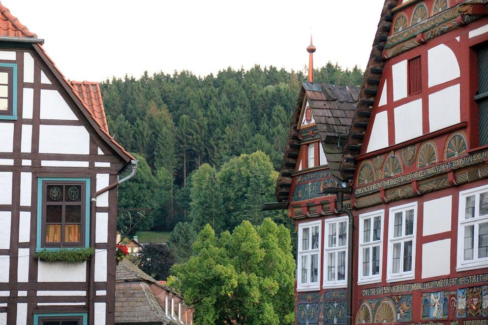 Building, Village, Schwalenberg, Truss, Fachwerkhaus