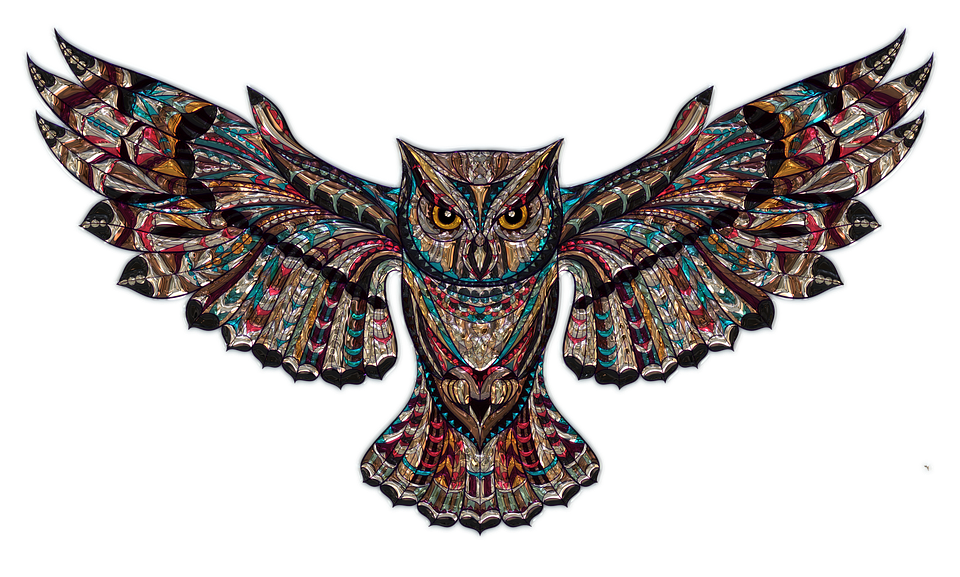 Owl, Metallizer, Png, Art, Glass, Factory