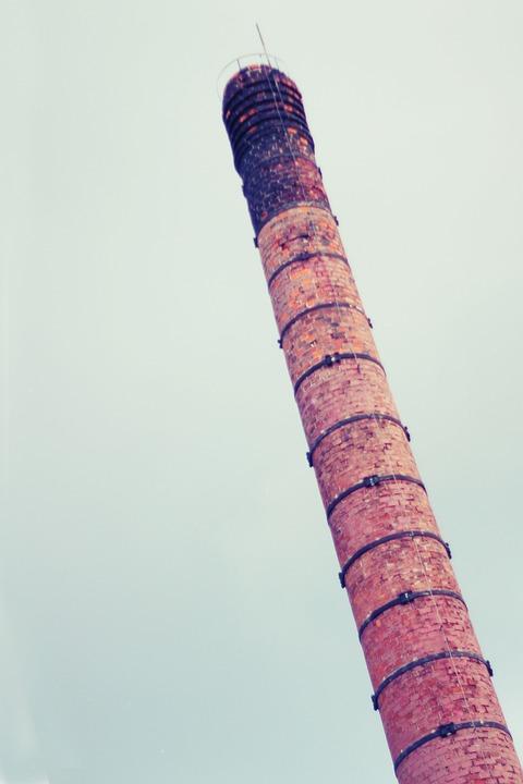 Chimney, Factory, Bricks, Sky