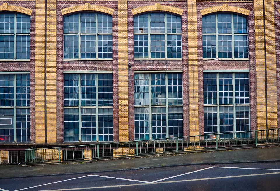 Architecture, Factory, Window, Facade, Industry