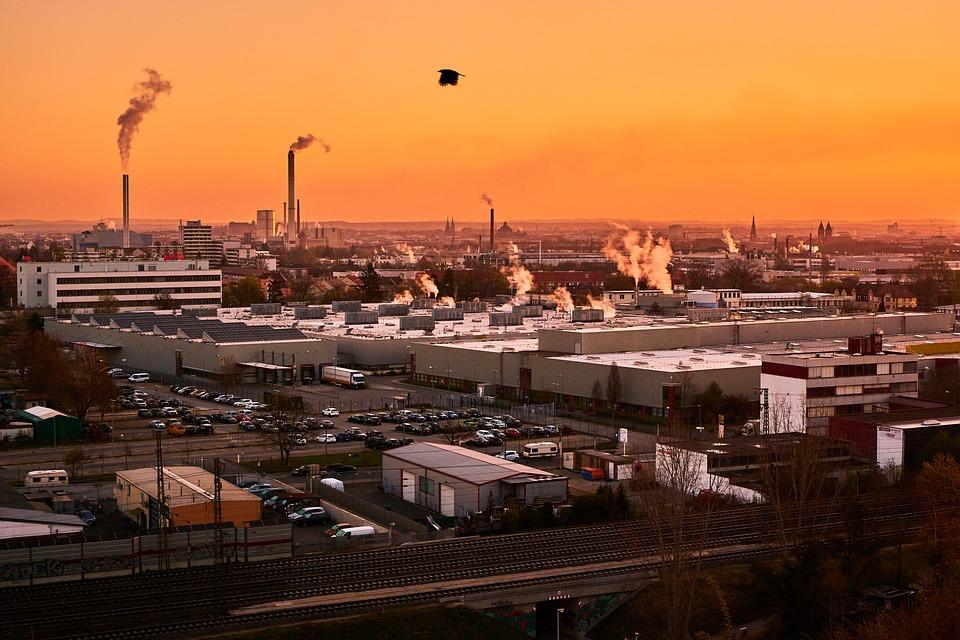 Nuremberg, Factory, Industrial Plant, Industrial Park