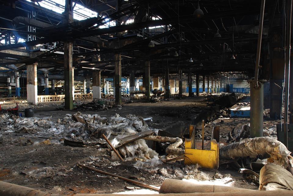 Factory, Abandoned, Destruction, Plant, Ruin, Old