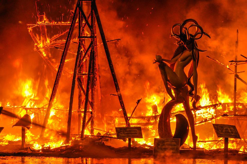 Failures, Fire, Demon, Burns, Night, Burning, Flames