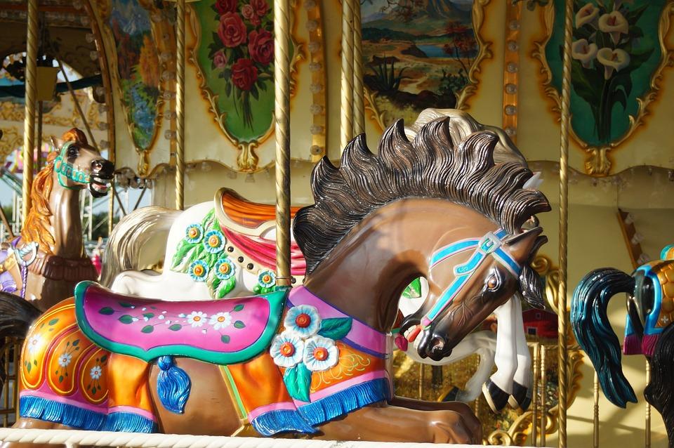 Fair, Carrucel, Horse