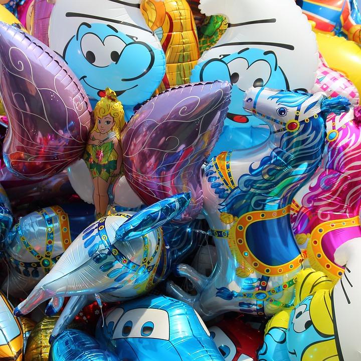 Balloons, Colorful, Year Market, Fair, Folk Festival
