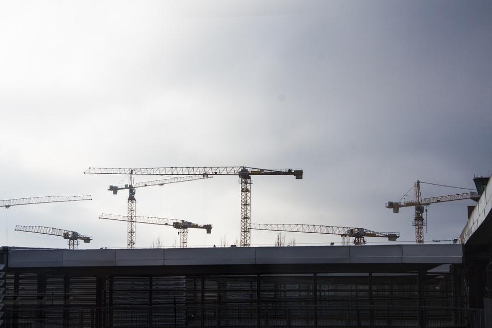 Site, Crane, Cranes, Architecture, Fair
