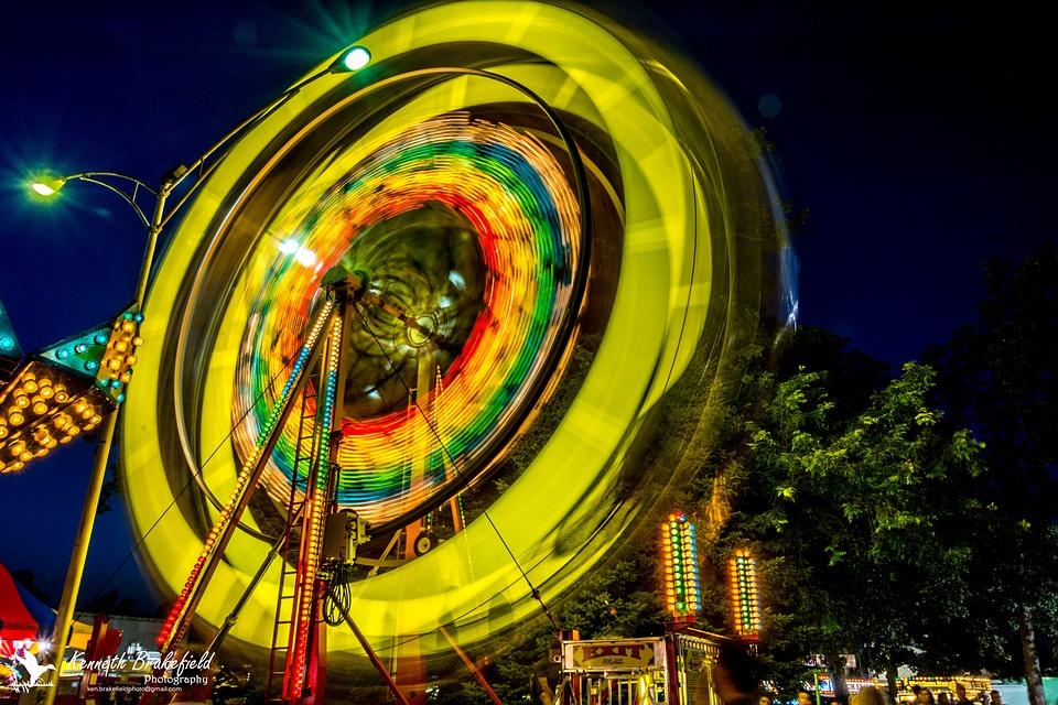 Ferris Wheel, County Fair, Carnival, Fun, Fair