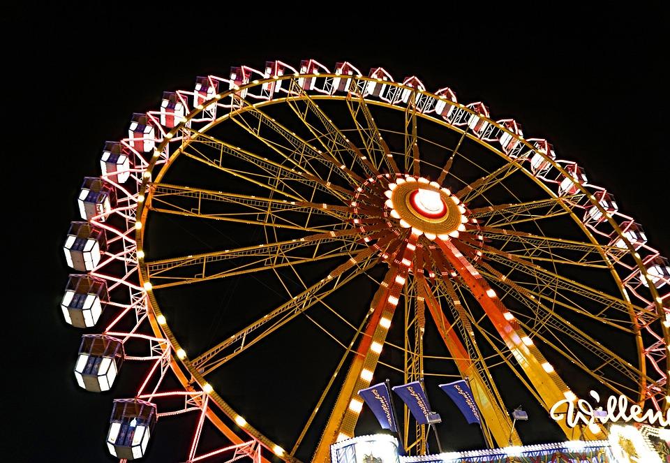 Ferris Wheel, Dom, Folk Festival, Carnies, Fair