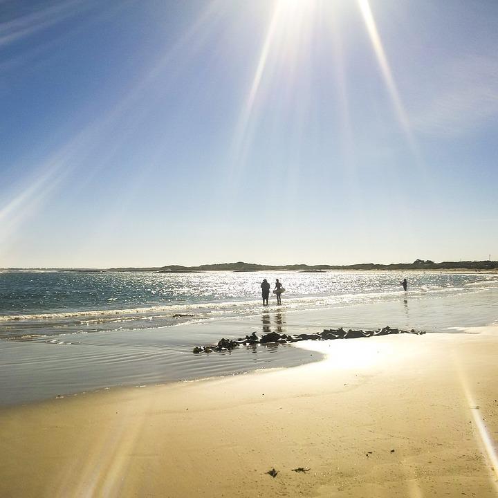 Water, Beach, Sunset, Sun, Sand, Fair Weather, Summer