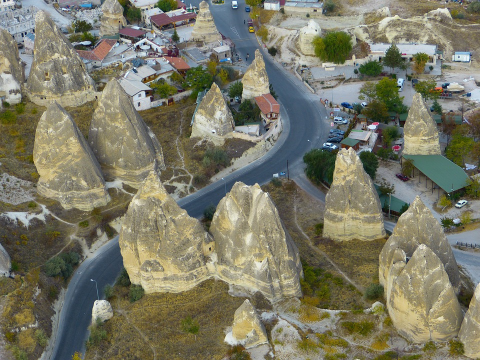 Göreme, Cliff Dwellings, Fairy Chimneys, Tufa