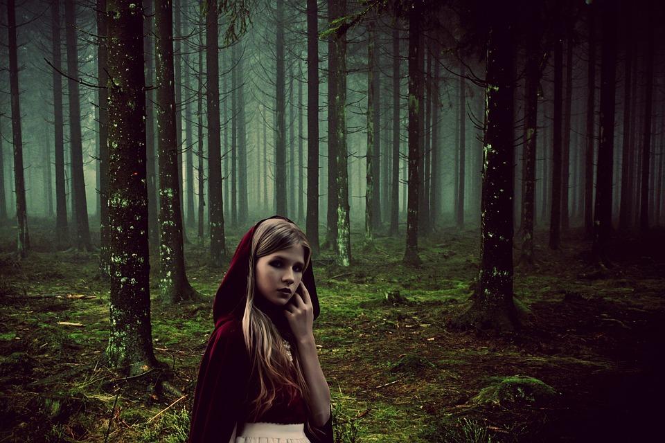 Girl, Fairy Tales, Rotkäppchen, Forest, Fairy Tale, Fog