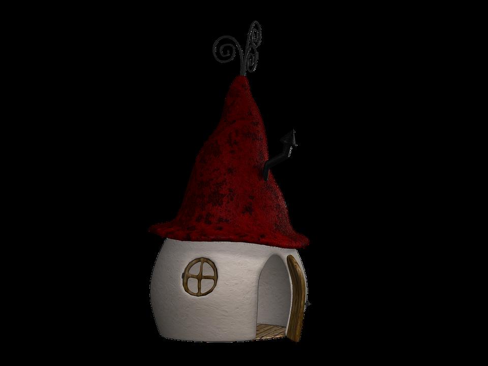 House, Hut, Fantasy, Fairy Tales, Digital Art, Isolated