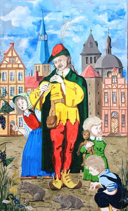 Hamelin, Fairy Tales, Mural, Sage