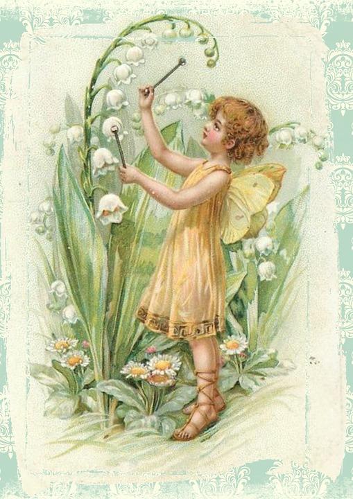 Fairy, Vintage, Flowers, Wings, Fairytale, Fantasy