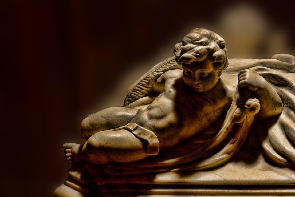 Angel, Angel Figure, Sculpture, Statue, Stone, Faith