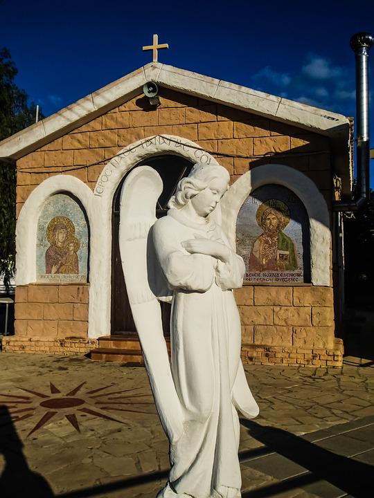 Cyprus, Vrysoules, Angel, Church, Religion, Faith