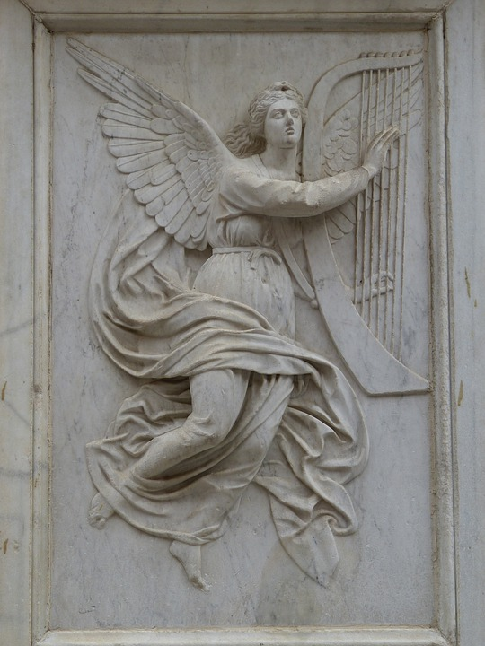 Angel, Fig, Faith, Sculpture, Relief, Image, Church