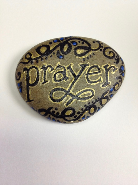 Prayer, Paint, Rock, Faith