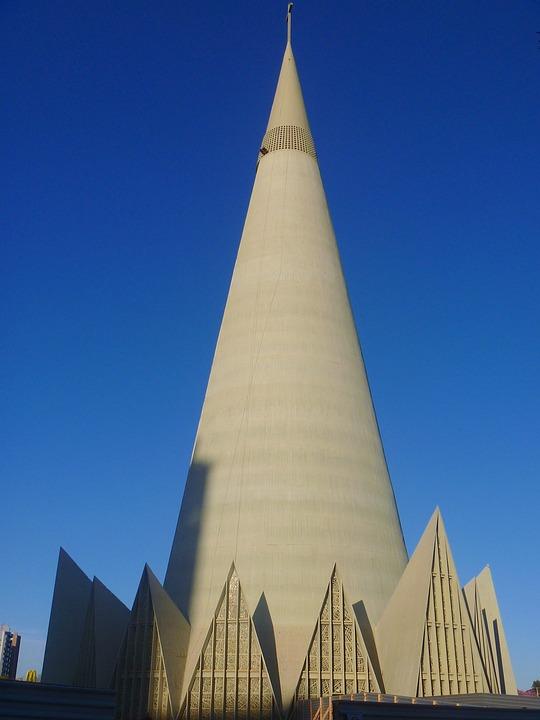 Brazil, Cathedral, Church, Tower, Faith, Religion