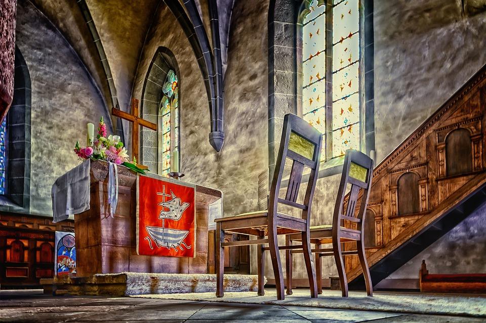 Church, Altar, Cross, Faith, Wedding, Religion, Chapel