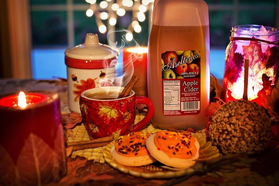 Autumn, Fall, Cozy, Hot Cider, Apple Cider, Cookies