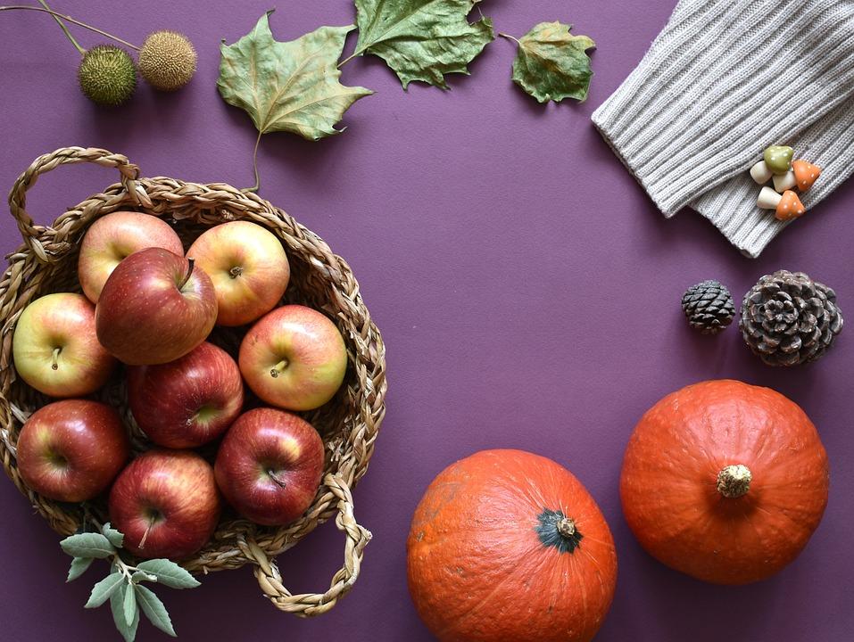 Autumn, Fall, Season, Fruit Basket, Food, Apples