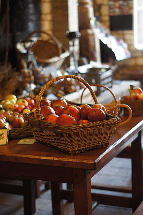 Apples, Fall, Red Apple, Basket