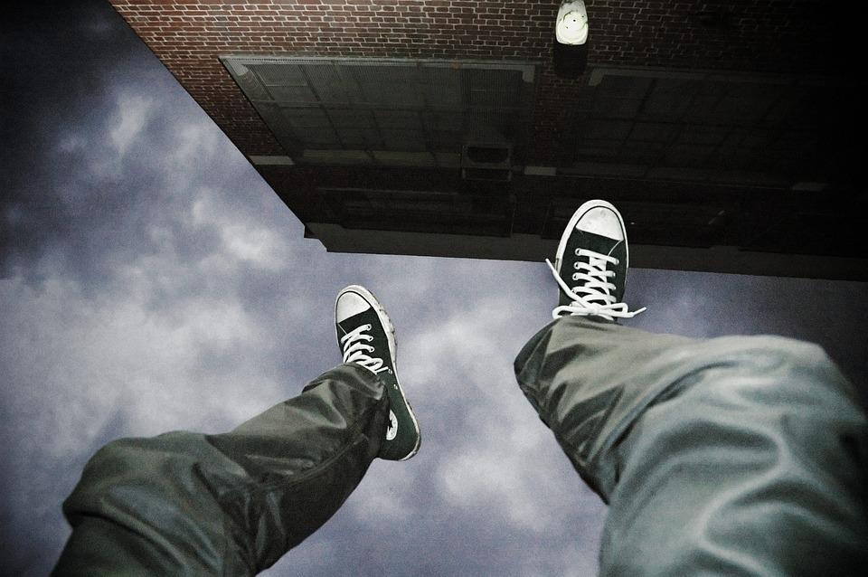 Falling, Suicide, Man, Jump, Upside Down, Danger, Risk