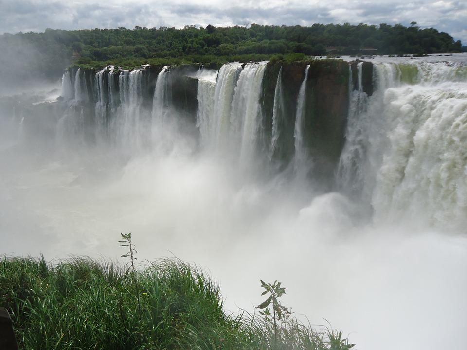 Iguazu, Waterfall, Falls, Landscape, Brazil