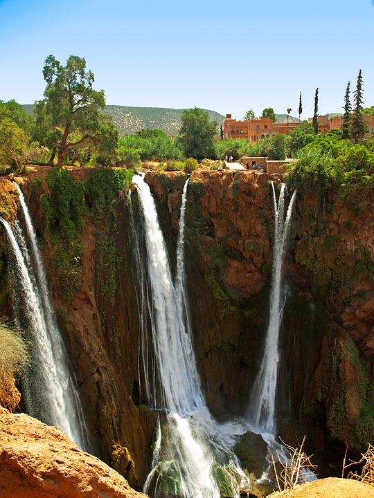 Ouzoud, Morocco, Falls, Waterfall, Landscape