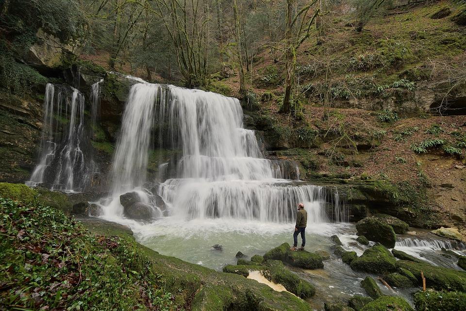 Cascade, Nature, River, Flow, Whirlpool, Falls