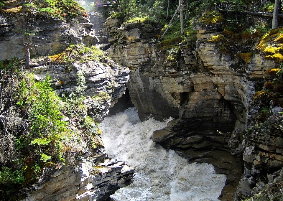 Athabasca, Falls, Rocky Mountain, Canada