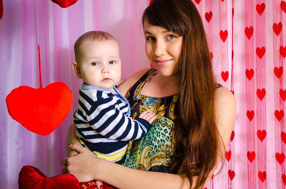 Baby, Mom, Family, View, Smile, Kids, Heart, Love, Kid