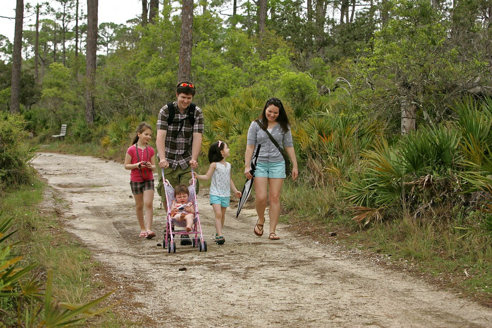Family, Mother, Father, Children, Nature Walk