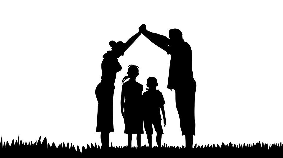 Free photo Family Prayer Silhouette Christian Family - Max ...