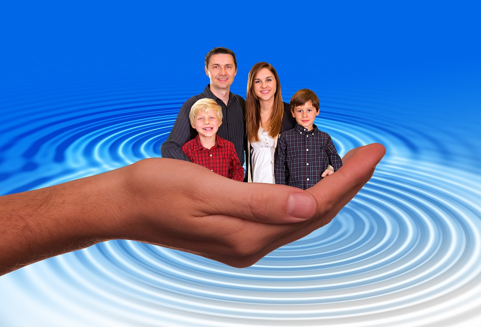 Hand, Protect, Protection, Father, Family, Child