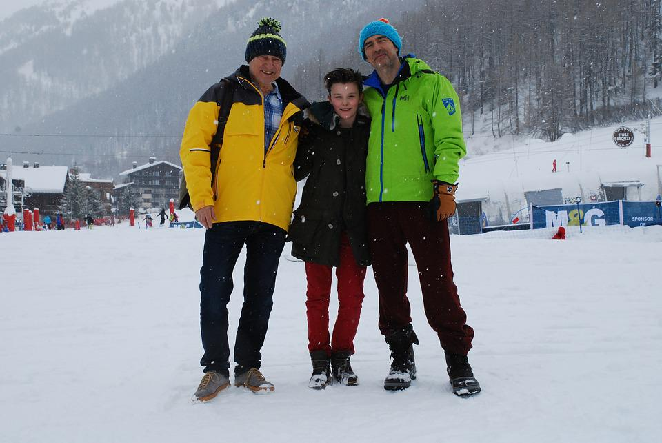 Alps, Valdesere, Ski, Vacation, Family, Winter, France