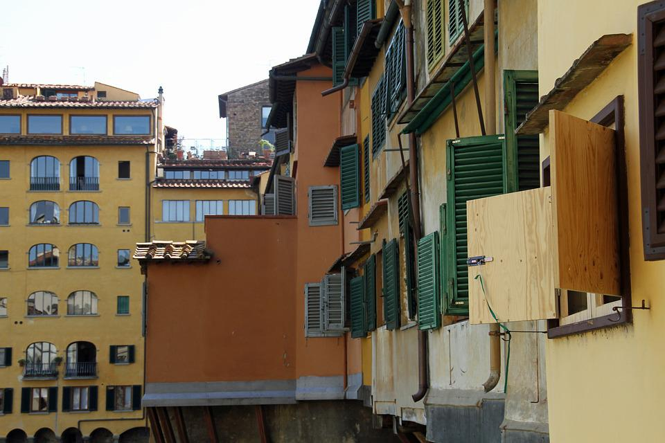 Ponte Vecchio, Florence, Blinds, Old, Famous, Italy