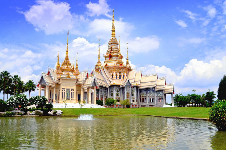 Thailand, Temple, Famous, Traditional, Blue, Wat