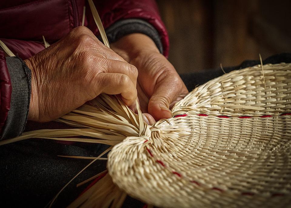 Hands, Weave, Fan, Craft, Handmade, Asia, Old