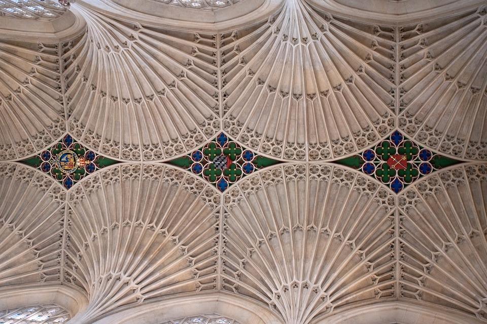 Fan Vaults, Bath Abbey, Stone, Ceiling, Roof, Interior