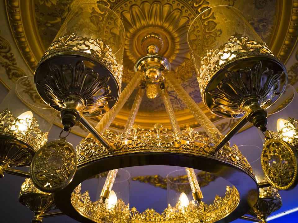 Chandelier, Lamp, Fancy, Ceiling, Candlestick, Home