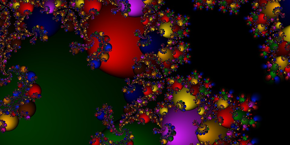 Fractal, Mirroring, Fantastic, Gradient, Abstract